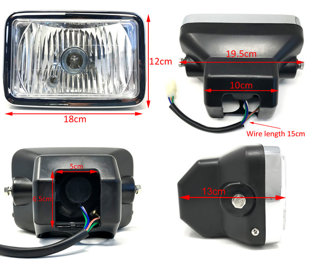 Motorbike Headlight for Honda CB 125 TD & CG125 Brazil Model Version - HOMOLOGATED