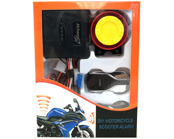 Motorbike Universal 12V Compact Alarm System - Non Intrusive - No Cutting Wires