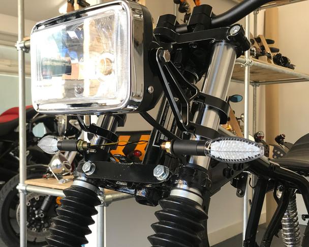 Motorbike LED Indicators - Oblong - 2 x PAIRS - BRIGHT - Good Quality