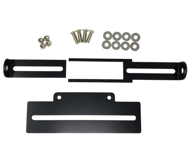 Adjustable Tail Tidy Number License Plate Holder - Black Aluminium