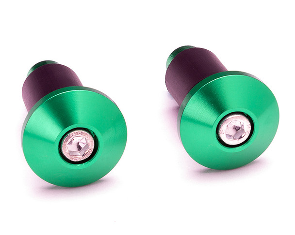 "Bar End Weights CNC Billet Aluminium - Green for 22mm 7/8"" Handlebars"