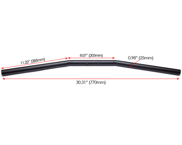"""Drag Bars - 25mm 1"""" for Streetfighter Muscle Bike Project"""