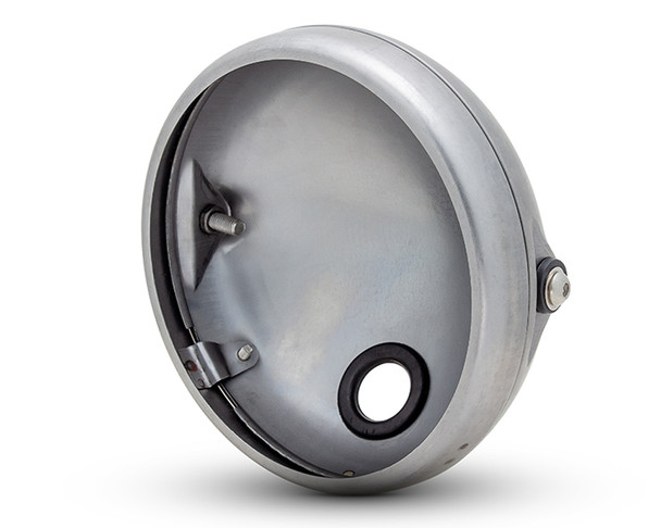 "7.7"" Headlight Housing Bucket with Bezel - Shallow - for Retro Project"