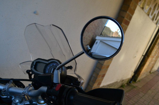 Chrome Motorbike Mirrors to fit all 10mm Clockwise Thread - PAIR