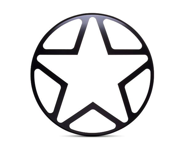 "7"" INCH Matt Black Star Metal Headlight Cover Grill Scrambler for Project Motorbike"