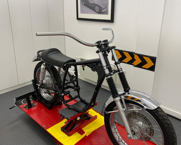 "Motorcycle 25mm 1"" Beach Bars Handlebars CHROME 12"" High"