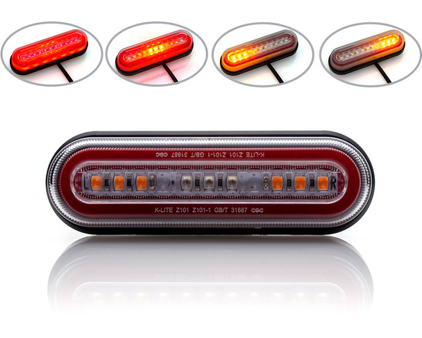 Motorbike Indicators Turn Signals Integrated LED Stop Run Tail Brake Light