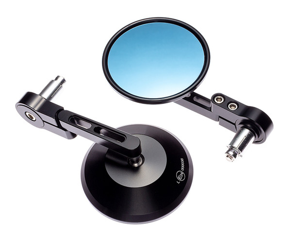 """Motorbike Mirrors Handlebar End Rear Side View for 7/8"""" 22mm Bars inc. Renthal"""