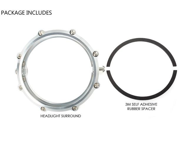 "Headlight Insert Surround 5.75"" for Harley Davidson Sportster & Dyna POLISHED"