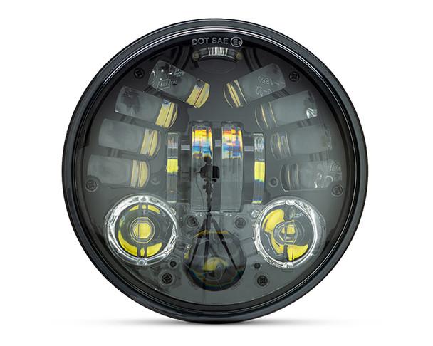 Motorbike Headlight Insert LED with Indicators 5.75 Inch for Harley Davidsons