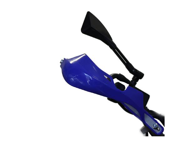 Blue Motorbike Handguards Hand Brush Guards with Aluminium Inserts ATV Quad Bike Motocross Trail Supermoto