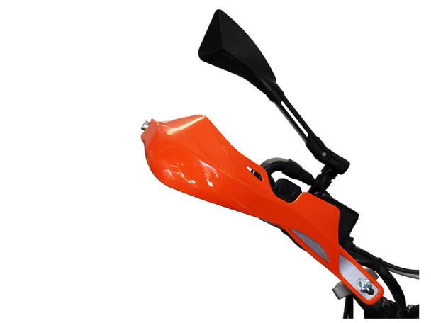 Orange Motorbike Handguards Hand Brush Guards with Aluminium Inserts ATV Quad Bike Motocross Trail Supermoto