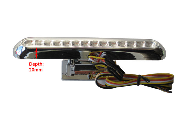 CHROME LED Stop / Tail Light WIth Integrated Indicators
