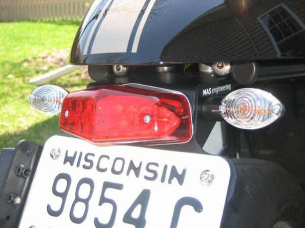 Motorbike Motorcycle Universal Lucas Replica LED Stop / Tail Light - Metal Bracket