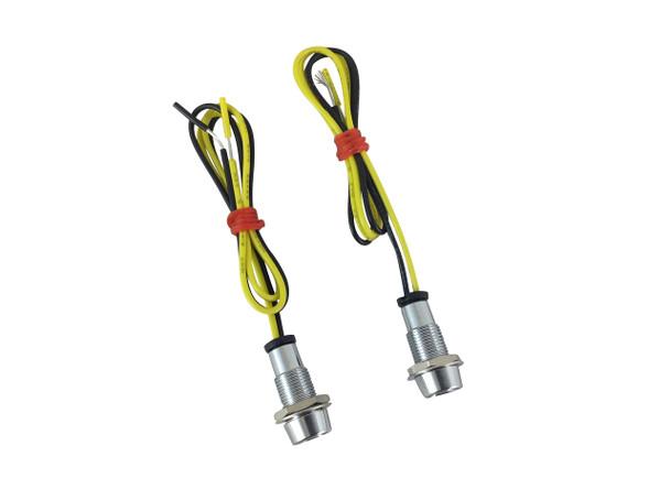 Micro LED Indicators & Dashboard Display Lights - Polished Aluminium