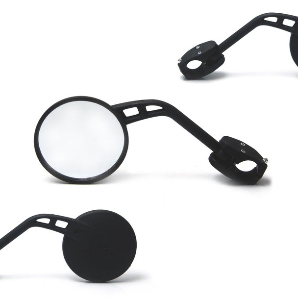 "RIGHT SIDE Single Round Motorbike Mirror For 22mm 7/8"" Handlebars"