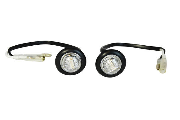 Fairing Bodywork Flush Mount Clear Lens Small Round Indicators Turn Signals For Motorcycles / Motorbikes & Scooters