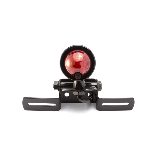 Black Classic Beehive Style Bulb Stop Light / Tail Light For Project Motorcycles Motorbikes