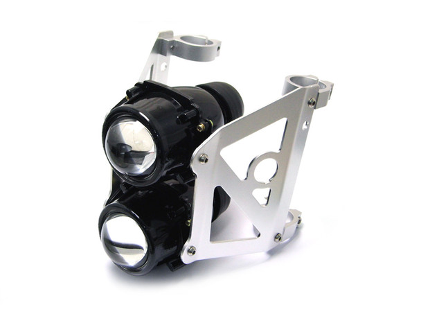 Streetfighter Motorbike Headlight Projector - Dual Stacked (size options available)