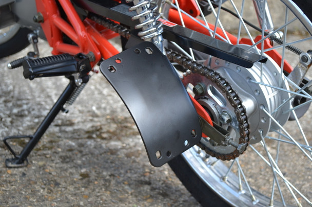 Curved Side Mount Motorcycle Motorbike Number Plate Holder License Plate Holder