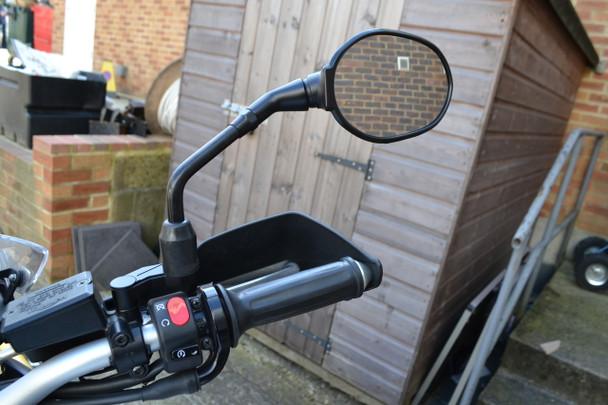 Black CNC Machined Billet Aluminium Motorcycle Motorbike Mirror Risers/Extenders