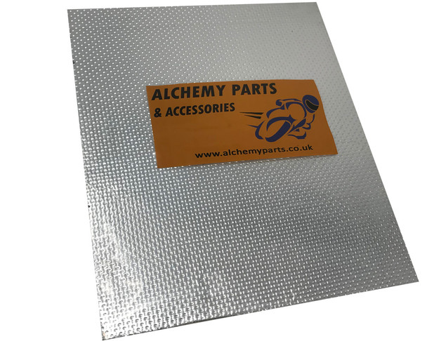 Self-Adhesive Aluminium Reflective Exhaust Heat Shield Sheet - 40cm x 33cm for Motorcycle Motorbike / Race Bike Trike Quad