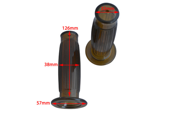 """High Quality 22mm 7/8"""" Antique Brown Grips for Cafe Racer Project Motorbike"""