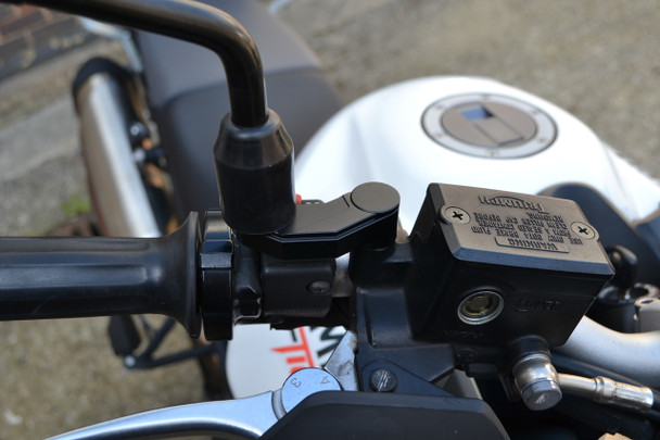 Black CNC Machined Billet Aluminium Motorcycle Motorbike Mirror Risers/Extenders for Yamahas and Ducatis