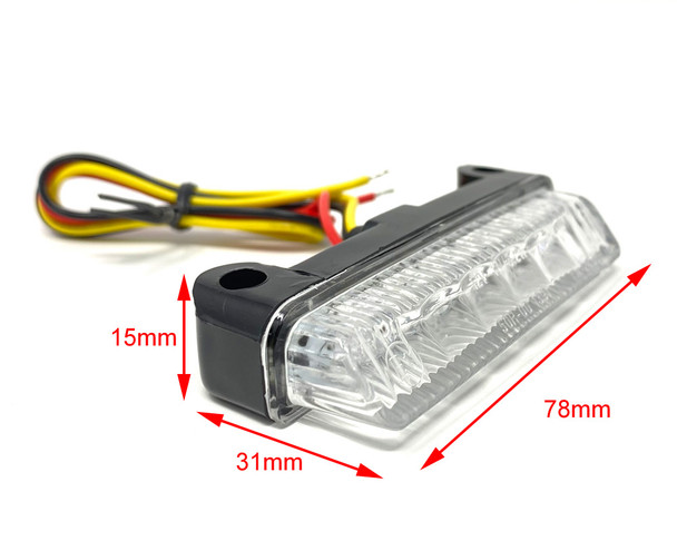 Universal E-marked LED Motorcycle Motorbike Stop Tail Light