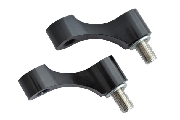 Pair of CNC M8 Clockwise Thread Motorbike & Scooter Mirror Risers Extenders