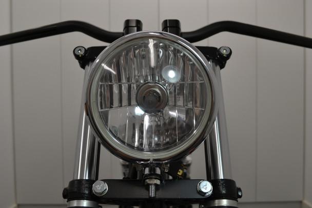 "Chrome 5.75"" Bates Style Classic Custom Motorbike Motorcycle Trike Headlight"