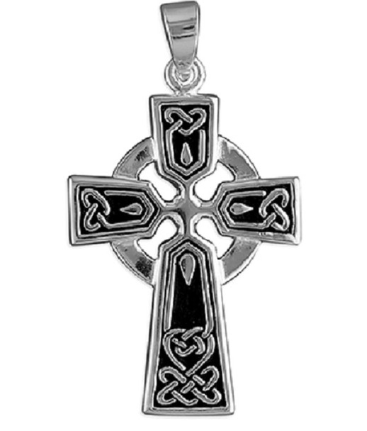 Men's Medium Sized Celtic Cross Pendant - Sterling Silver