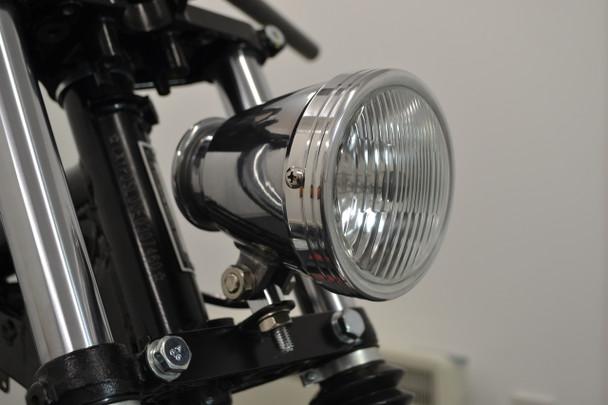 """4.5"""" Vintage Style Custom Retro Motorbike Motorcycle Polished Headlight"""