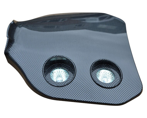 Universal Carbon Fibre Effect 12V/20W Double Headlight For All Motocross & Enduro Motorbikes -