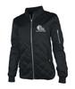 Ladies Black Quilted Flight Jacket
