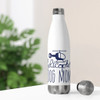 """""""Helicopter Dog Mom"""" 20oz Stainless Steel Insulated Bottle"""
