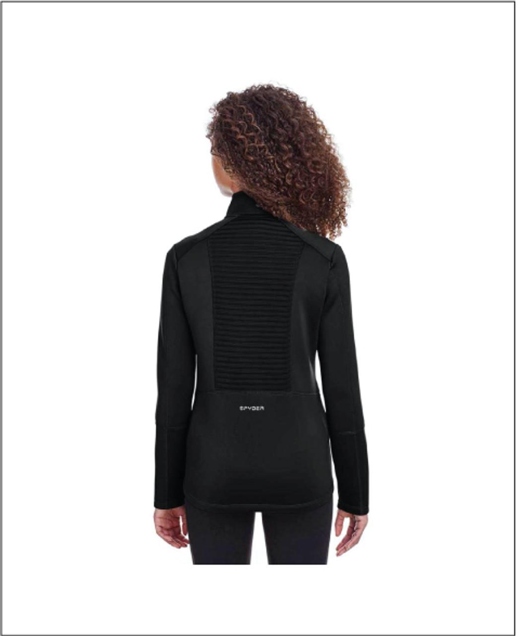 Ladies Black Spyder Venom Full Zip Jacket