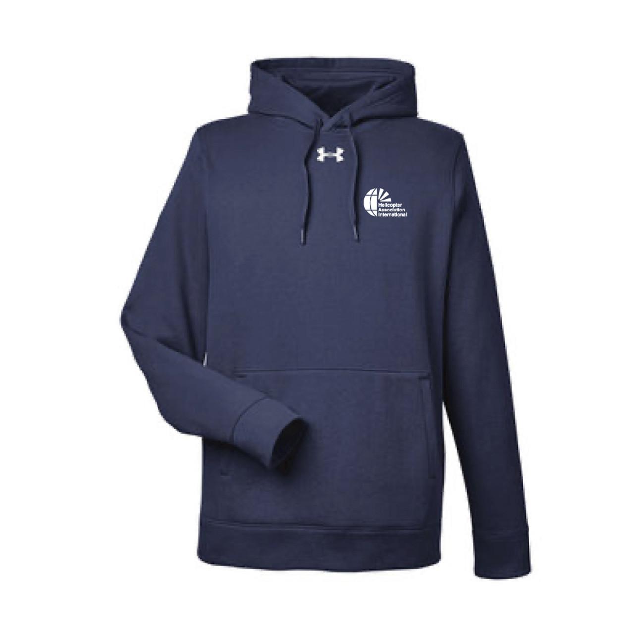 Mens Under Armour Navy Pullover Hood Sweatshirt