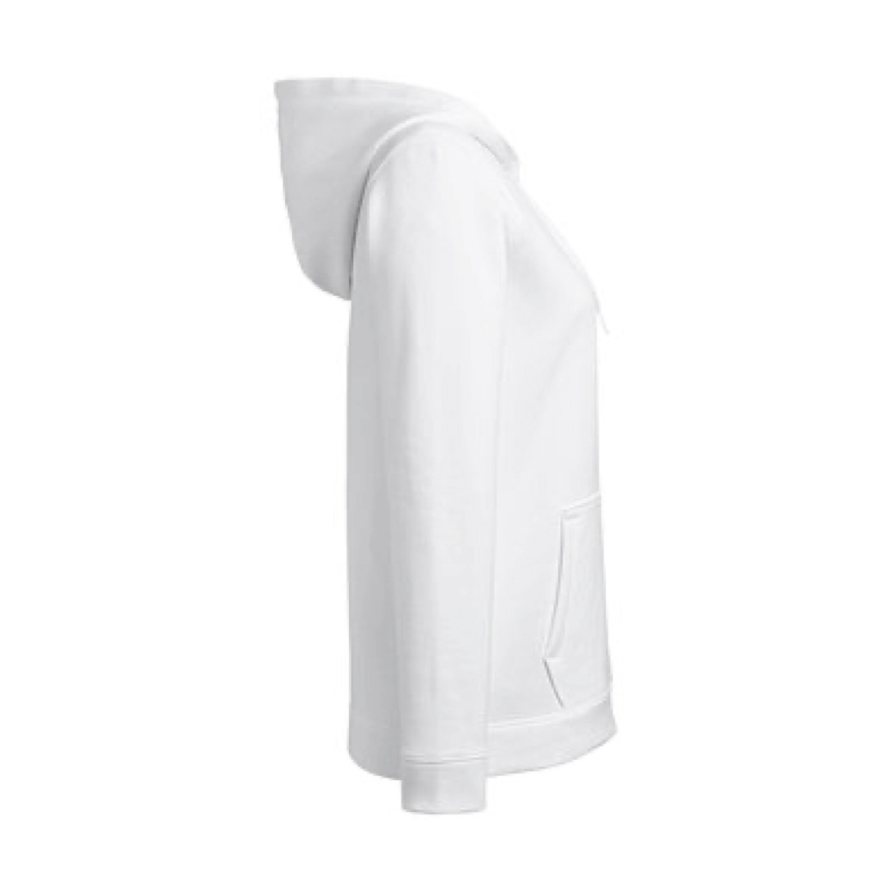 Ladies Under Armour White Pullover Hood Sweatshirt