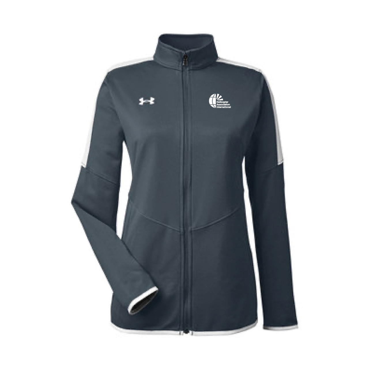 Ladies Under Armour Charcoal Knit Full Zip Jacket