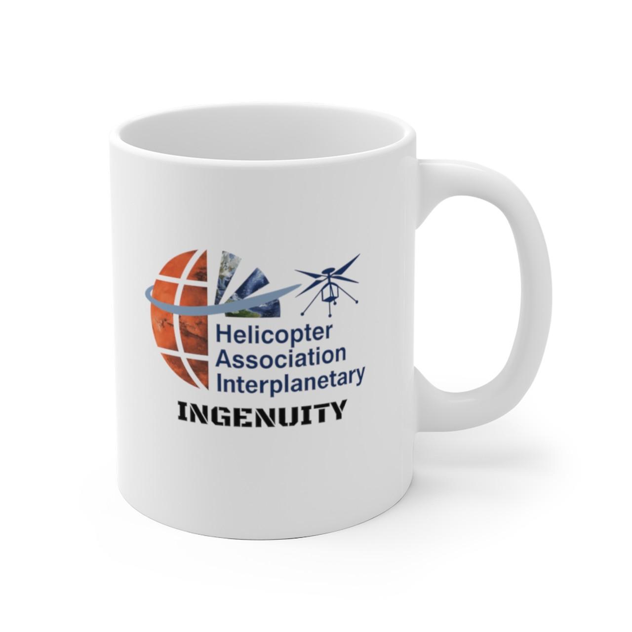 """White 11oz. """"HAI INGENUITY"""" Ceramic Mug"""