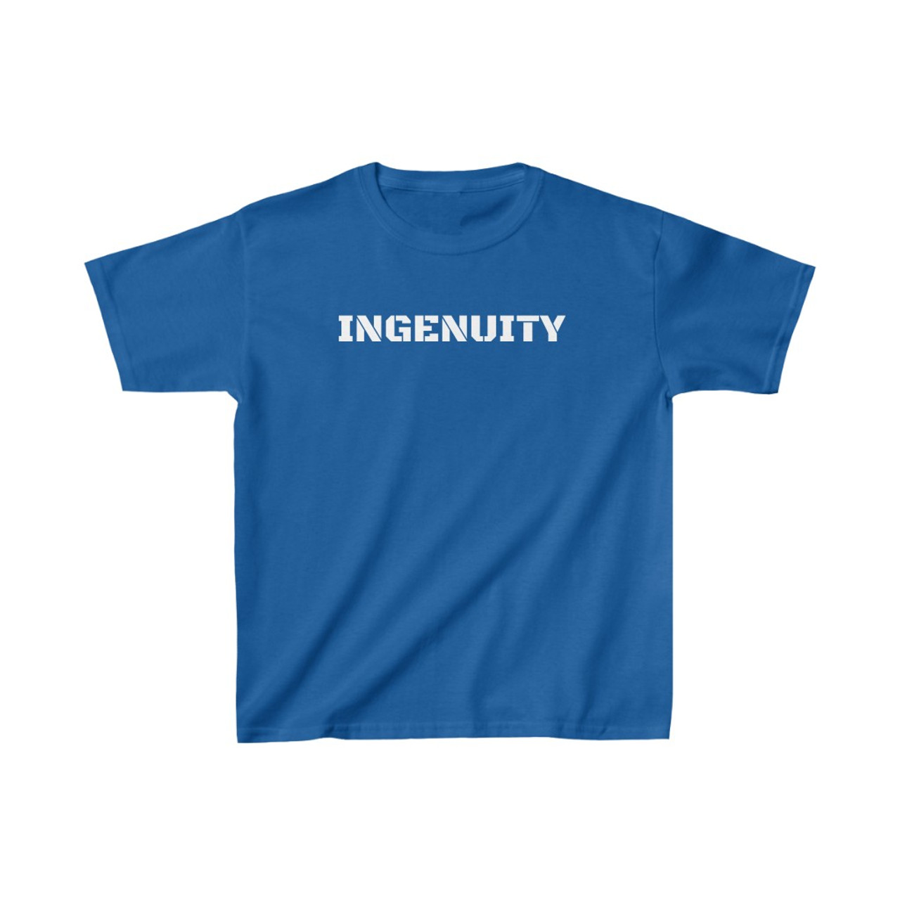 """Youth Royal Blue """"INGENUITY"""" Cotton Tee"""