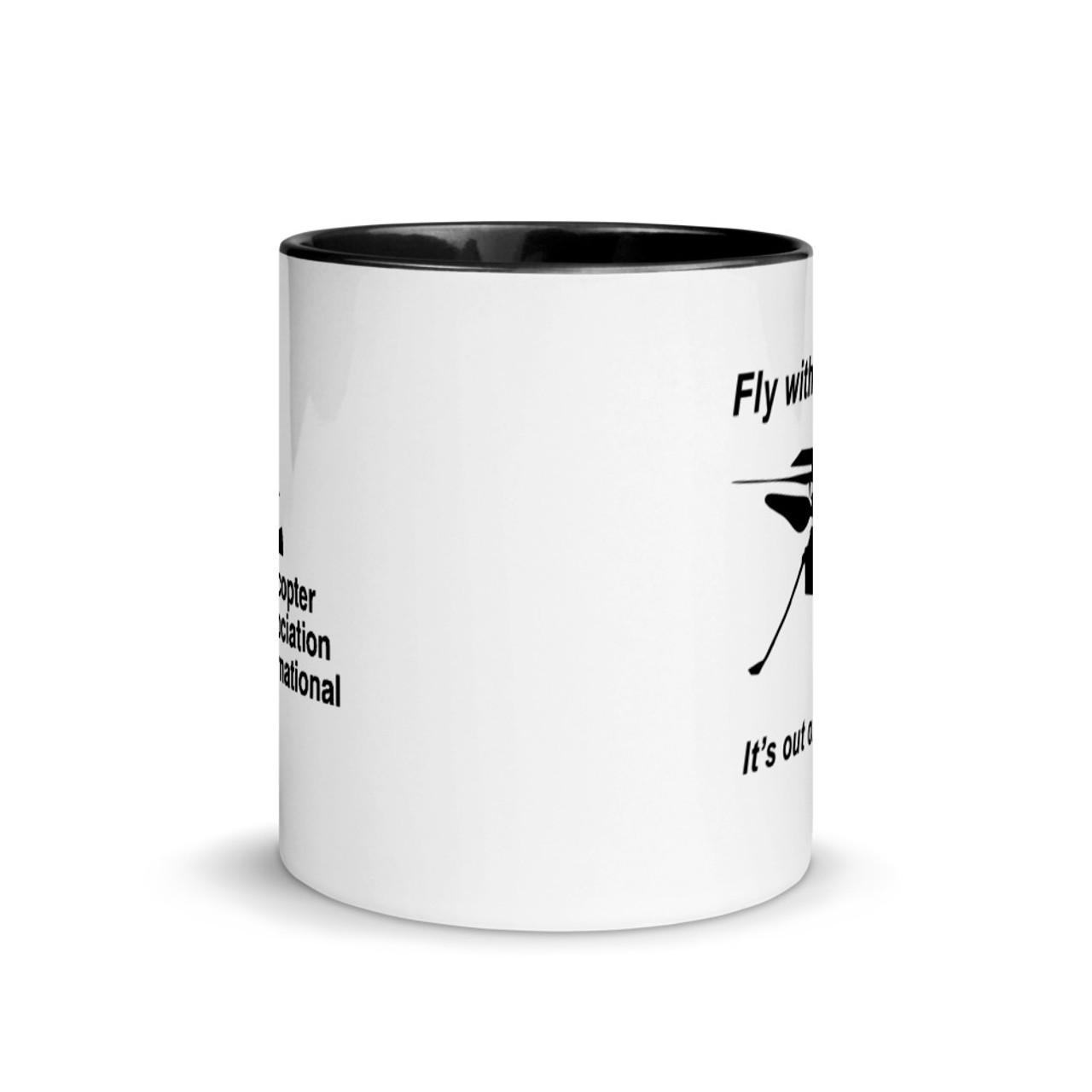 """Ingenuity"" White 11oz. Mug with Black Trim"