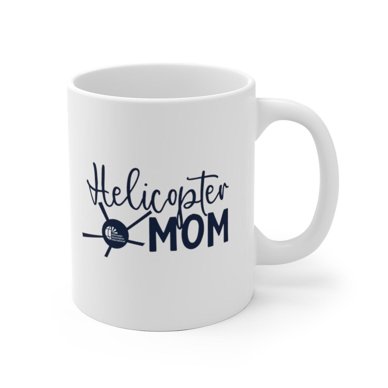 """White 11oz. """"Helicopter Mom"""" Ceramic Mug"""