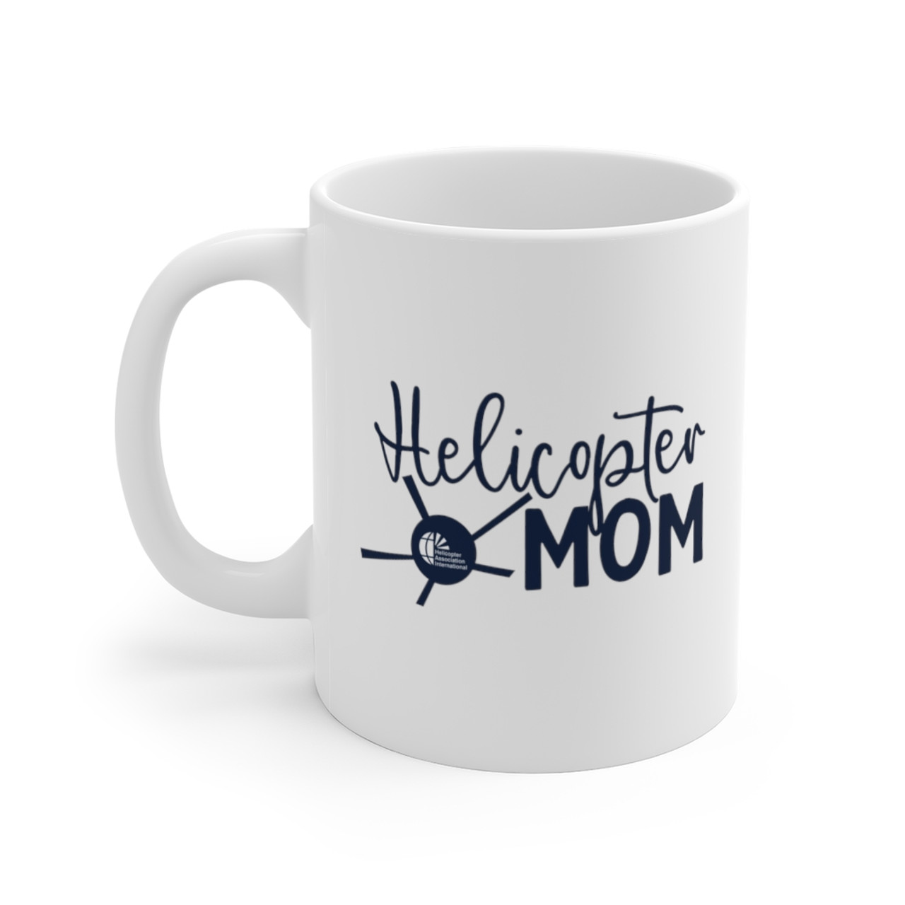 "White 11oz. ""Helicopter Mom"" Ceramic Mug"