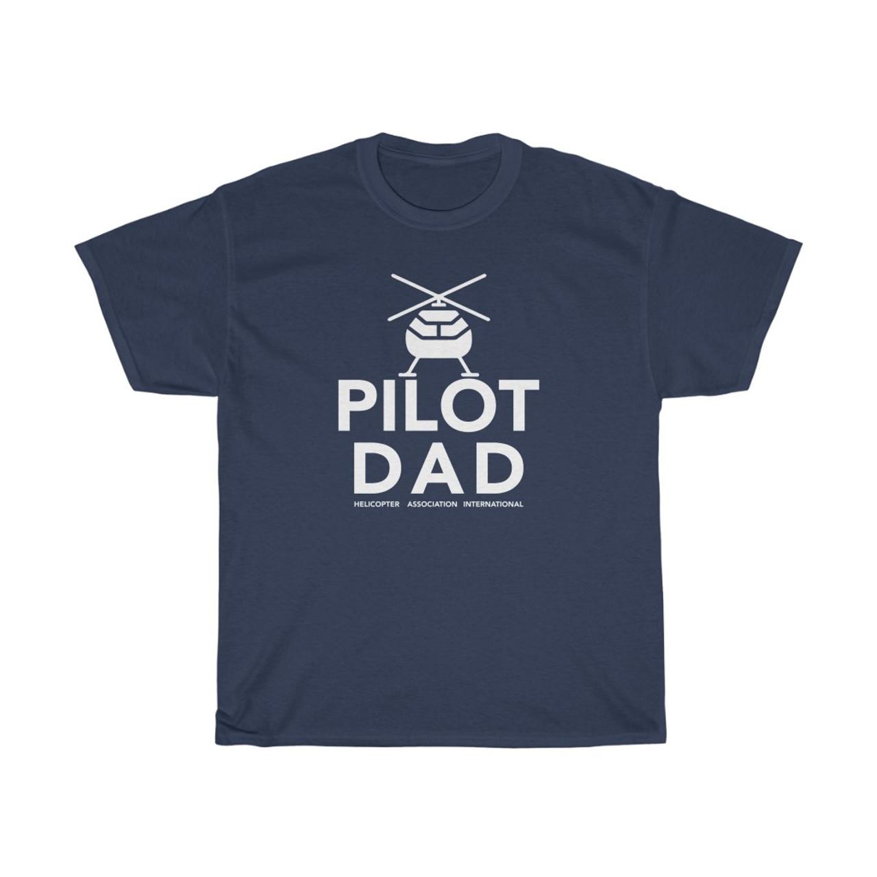 "Navy Blue  ""Pilot Dad"" Heavy Cotton Tee"