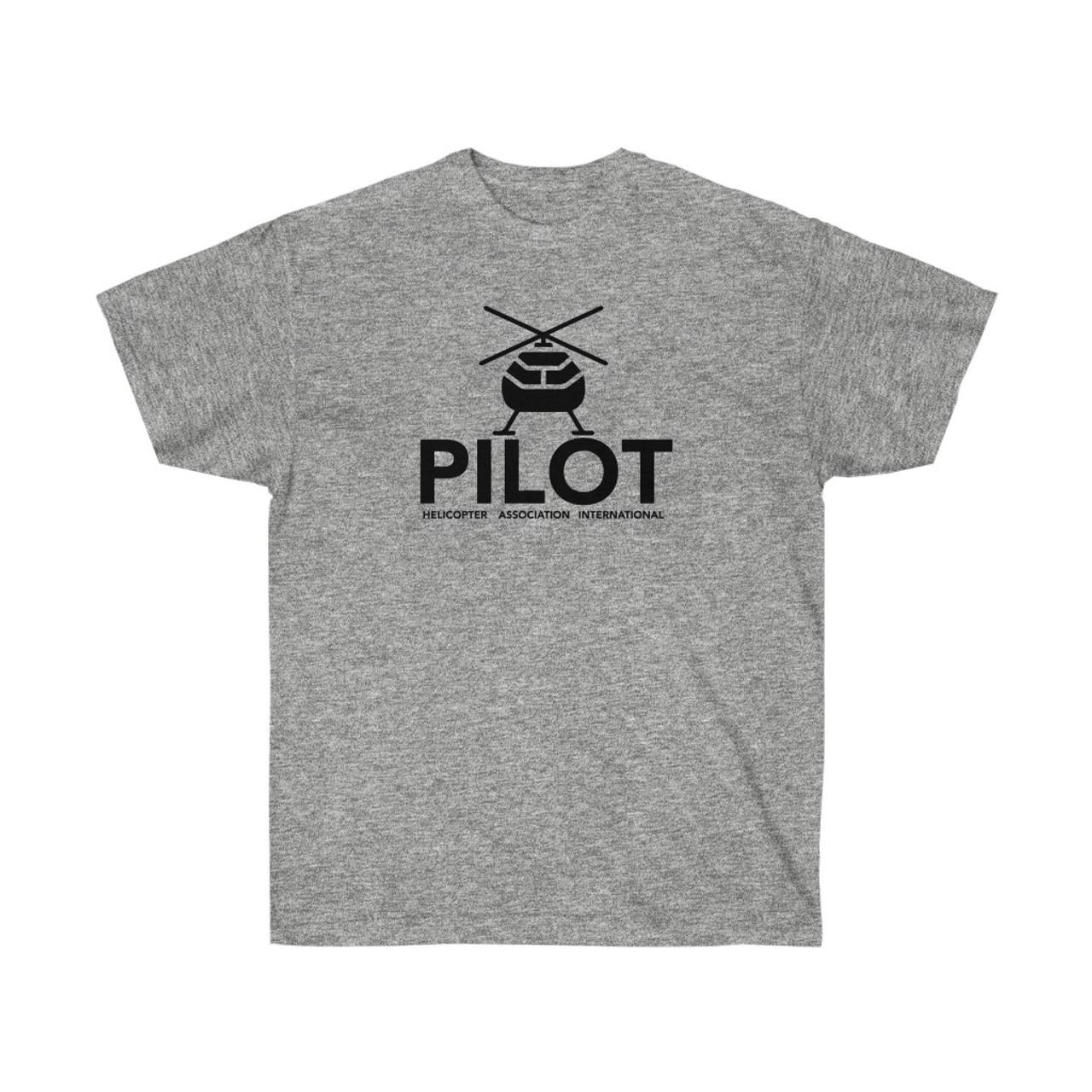 "Unisex Sport Gray ""PILOT"" Ultra Cotton Tee"