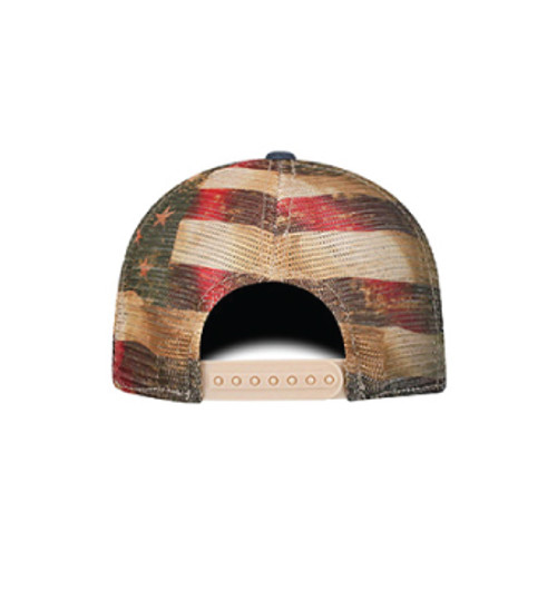 Washed Stars-n-Stripes Snap Back Trucker Hat