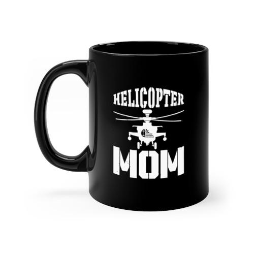 """Black 11oz. """"Helicopter Mom"""" Ceramic Mug"""