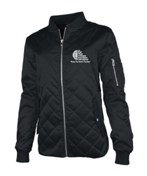Ladies Quilted Flight Jacket